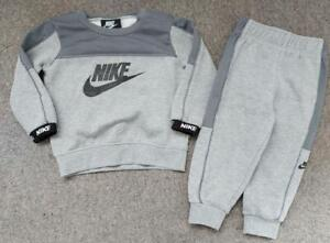 BABY BOYS NIKE GREY AND BLACK TRACKSUIT,  18 MONTHS
