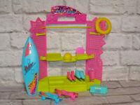 Mattel Barbie Doll Vintage Sun Sensation SURF SHOP with Accessories Dream House