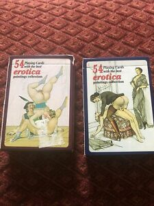 2 Different Packs Of Erotica Playing Cards