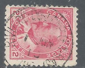 Canada SOCKED-ON-NOSE TOWN CANCEL RIVIERE DU LOUP PQ SCOTT 90 TII USED (BS20226)
