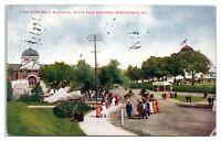 1916 Main Entrance, State Fair Grounds, Springfield, IL Postcard