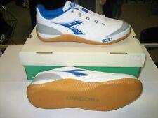 Diadora Sala Indoor Soccer Shoe White/ Blue