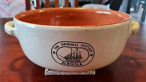 VINTAGE 'THE  ORIGINAL POTTERY' ALBISOLA ITALY SERVING BOWL