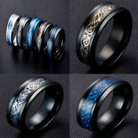 8mm New Style Dragon Tungsten Carbide Ring Women Men's Jewelry Wedding Band Hot