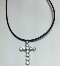 Platinum Custom Diamond Cross Pendant 11 FGVS Round Diamonds 2CT on Lanyard