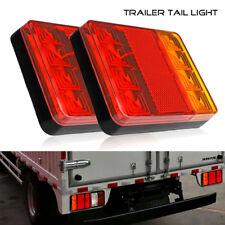 2Pcs LED 12V Caravan Van Truck Lorry Trailer Rear Tail Stop Light Indicator Lamp
