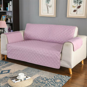 100% Waterproof Loveseat Cover for Leather Couch Quilted Furniture Cover