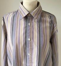 TED BAKER CLASSIC FIT BOLD STRIPED SIZE 4 - 100% cotton