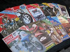 Motor Cycle Mechanics 1978 Full Year Every Issue. Job lot. Collection.