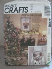 McCalls 4398 Uncut Sewing Pattern Country Angel Christmas Ornaments Stocking