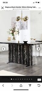 Marble Effect ..High Gloss Dining Table 1.6..... Marble Style..... Not Actual