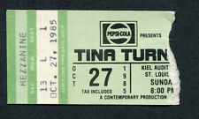 1985 Tina Turner Mr. Mister Concert Ticket Stub St. Louis Kiel Private Dancer