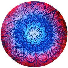 Round Blue Geometric Combo Tapestry/Beach Blanket
