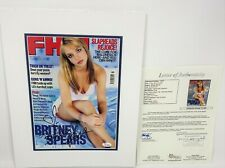 BRITNEY SPEARS SIGNED MAGAZINE COVER JSA COA FULL AUTOGRAPH YOUNG PRO MATTED