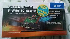 Western Digital FireWire PCI Adapter 1394 i.LINK Compatable MAC - PC WDAD004-RNW