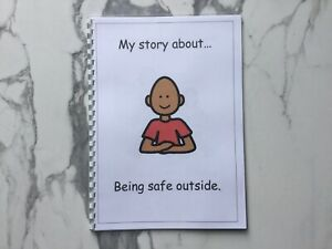 PECS/Boardmaker Safety Outside Social Story for Autism/ASD/SEN/ADHD/Aspergers