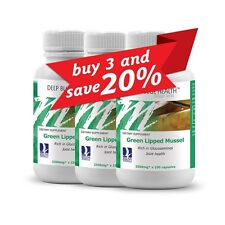 New Zealand Green Lipped Mussel (300 caps) Healthy Joints & Arthritis Sufferers