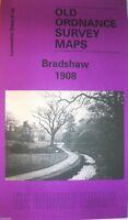 Old Ordnance Survey Map Bradshaw near Bolton Lancashire 1908 Godfrey Edition