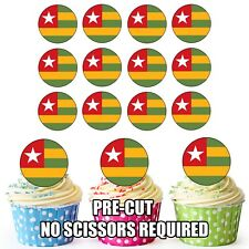 24 Circle Tona Flags - Cup Cake Toppers Decorations Party Birthday