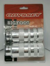 "NOS Odyssey Bigfoot Axle Freestyle pegs Silver 3/8"" Old Mid School Bmx GT Haro"