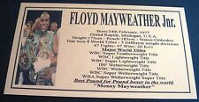 "FLOYD MAYWEATHER JUNIOR New Big   Photo Plaque ""FREE POSTAGE"""