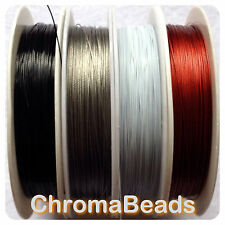 50m roll Tiger Tail - Silver Grey - 0.38mm - beading wire