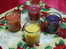 1-Holiday Votive Container Candle~4-Different Scents~You Choose