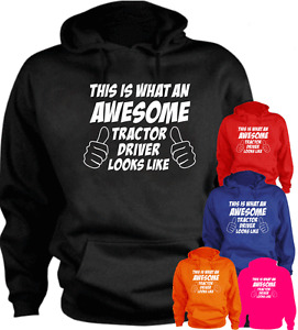 This Is What An Awesome Tractor Driver Looks Like Gift New Hoodie Present