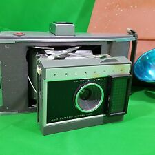 Vintage Polaroid Land Camera J66 Leather Case Flash Manual Prop Self Piece