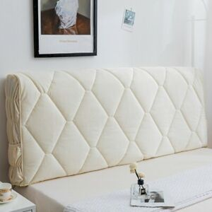Headboard Elastic Cover Pure Color Bed Head Slipcover All inclusive Soft Leather