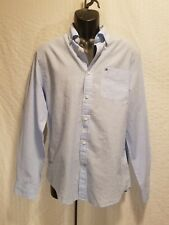 New TOMMY HILFIGER Custom Fit Blue Long Sleeve Button Up Shirt Men Size S Small