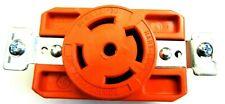 COOPER HART-LOCK NEMA L21-30 30A 120/208V 3ØY Locking Receptacle 4-Pole Orange