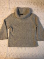 Rafella Angora Lambs Wool Turtle Cowl Neck Sweater Gray Women's Size Medium