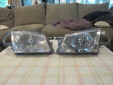 1999 2000 MAZDA PROTEGE DRIVER LEFT & PASSENGER RIGHT SIDE HALOGEN HEADLIGHT OEM