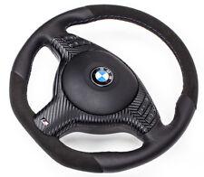 aplati Alcantara volant en cuir BMW E46 E39 Z3 avec écran multifonction et