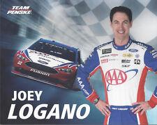 "2018 JOEY LOGANO ""AAA AUTO"" #22 NASCAR MONSTER ENERGY HERO CARD POSTCARD"