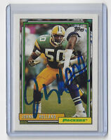 1992 PACKERS Johnny Holland signed card AUTO Topps #421 Autographed Green Bay