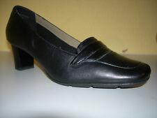 Clarks zapatos señora zapatos de salón cuero negro Gr. 38,5 (5,5) F. como nuevo