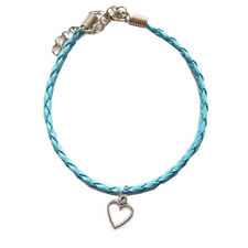 Turquoise Open Heart Leather Anklet,Boho,Bohemian,Ankle Bracelet,Valentines Day