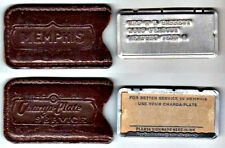 Vintage Metal Charga-Plate Credit Card in Leather Sleeve: Memphis, Tennessee