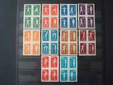 CHINA 1952 BLOCS OF 4 GYMNASTIC ON RADIO SET / NO GUM (*) / 2nd PRINTING