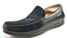Mephisto Men's Shoes Suede & Leather Slip On Loafers Baduard Black Size 10.5 US