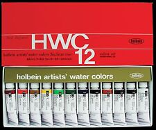 Holbein Artists' Watercolors - High Quality, Brilliant Hues 12 x 15ml Tube Set