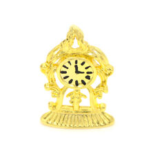 1:12 Dollhouse Miniature Metal Gold Color Vintage Clock Simulation FurnitureToyC