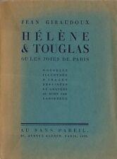RARE EO N° JEAN GIRAUDOUX + LABOUREUR : HÉLÈNE & DOUGLAS OU LES JOIES DE PARIS