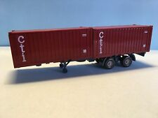 Wiking CTI Container Sattelzug Red/Blue 1/87 Scale Good Condition Rare/Selten