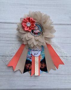 Moana Birthday Corsage Pin ,Moana Birthday Badge ,Moana Birthday Pin