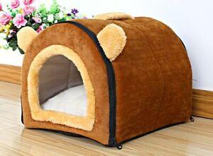S-XXL Pet Dog Cat Bed mat Puppy Cushion Soft Warm House Hut Kennel Washable UK