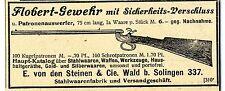 Wald Solingen E. von den Steinen & Co. Flobert- Gewehr Historische Reklame 1900