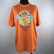 Disneyland Half 1/2 Marathon 2013 Orange Short Sleeve Shirt Disney Champion XS